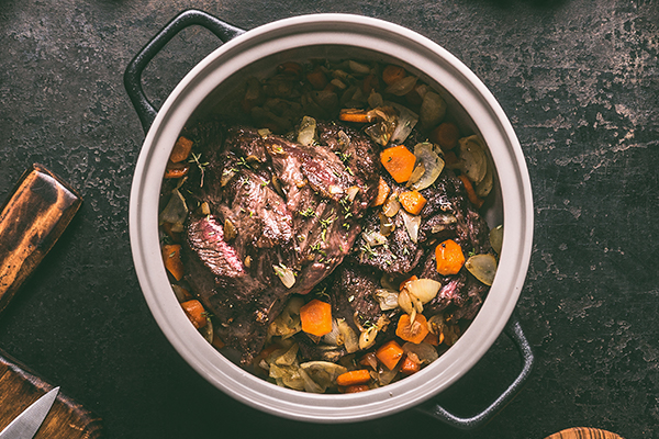 Christmas Pot Roast in a slow cooker