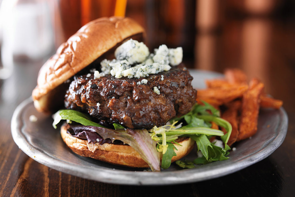 Blue Cheese Bison Burgers Recipe