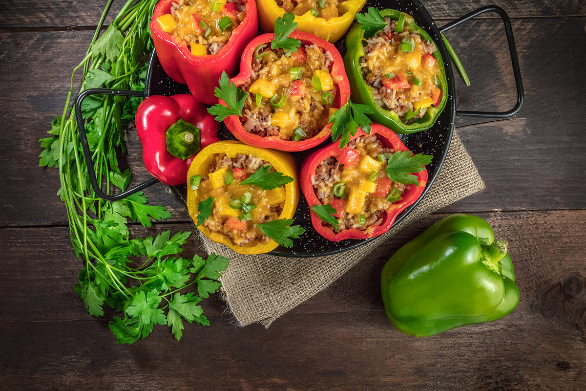 Bison Stuffed Peppers Recipe