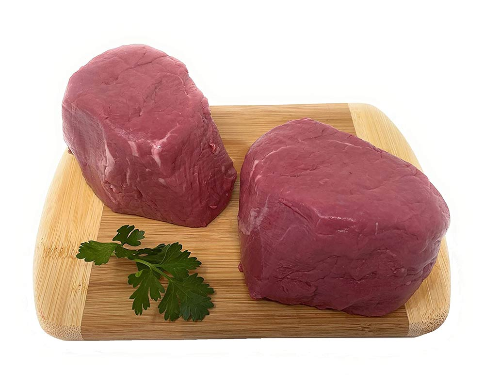 Bison Sweet Heart Filet Mignon Tenderloin Steaks 8oz, (count 2)
