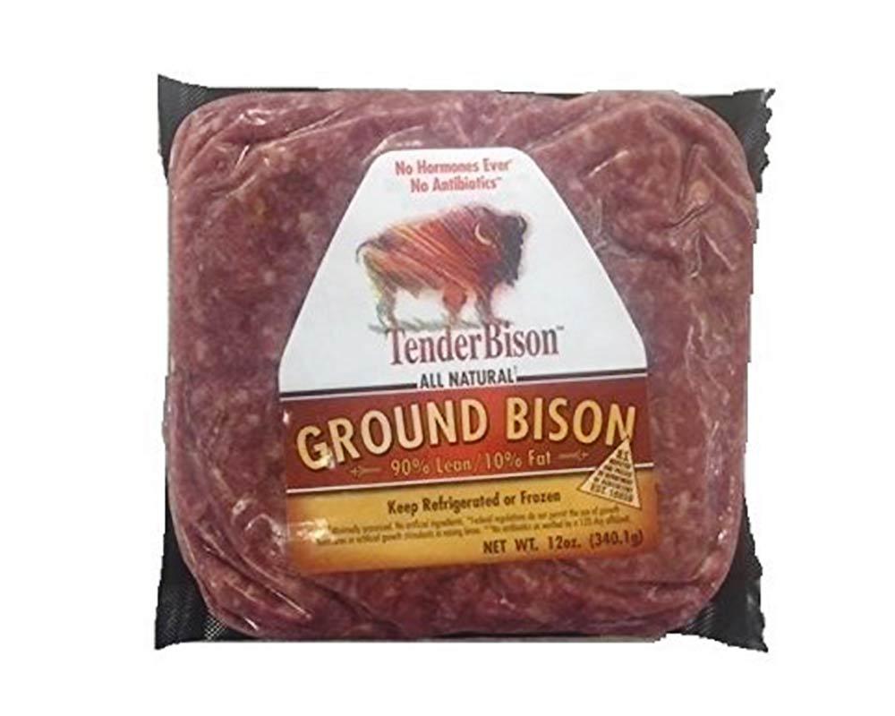 Ground Bison 90% Lean: 12 oz. Bricks (case of 12)