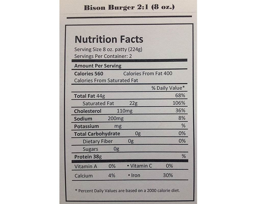 Ground Bison 80% Lean (count 2 x 5 lbs)