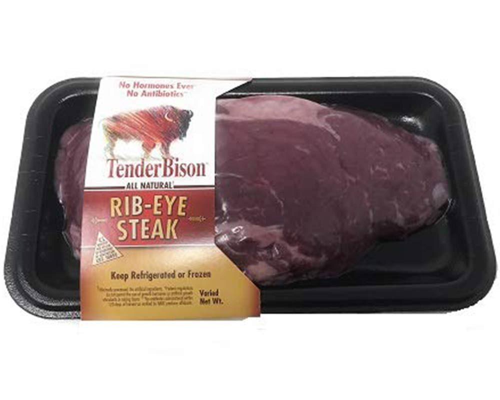 Bison Ribeye Steaks Case of 12 (8-11 oz. each)
