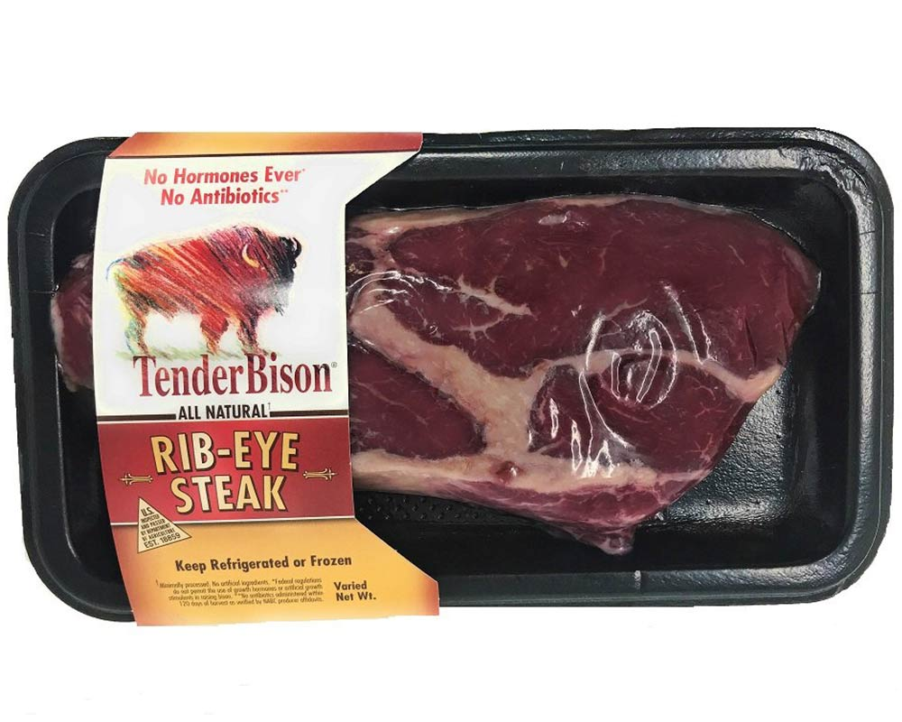 Bison Ribeye Steaks - Case of 6 (8-11oz. each)