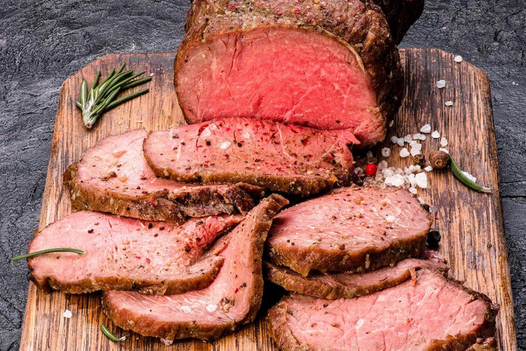 Bison Roast with Garlic
