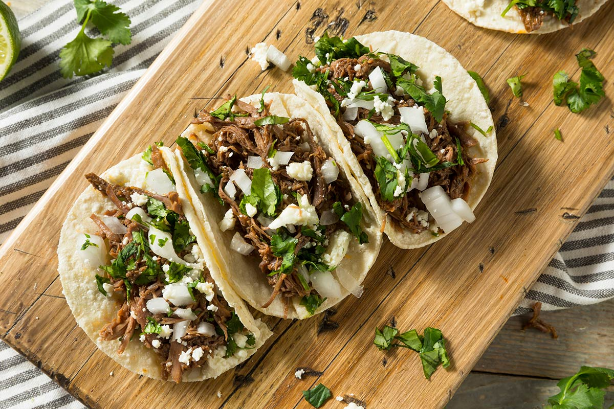 Shredded Bison Chipotle Tacos