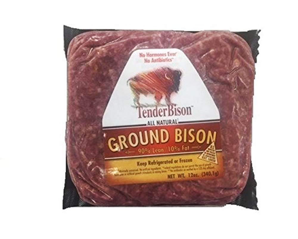 Ground Bison 90% Lean 16 oz (12 count)